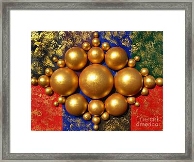 Golden Bubbles Framed Print
