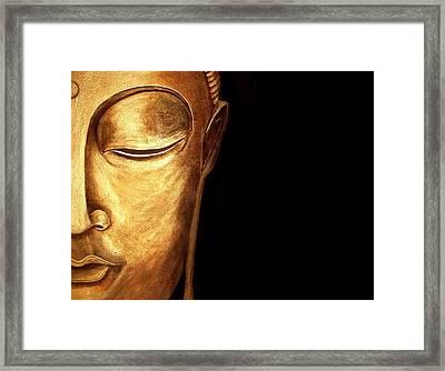Golden Buddah Framed Print