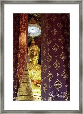Golden Buddha Framed Print by Buchachon Petthanya