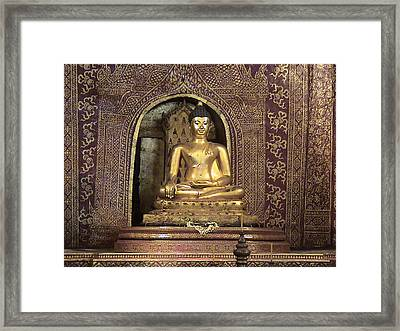 Golden Buddha Of Chang Mai Framed Print by William Thomas