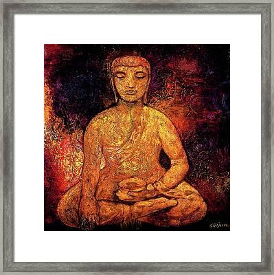 Golden Buddha Framed Print by Shijun Munns
