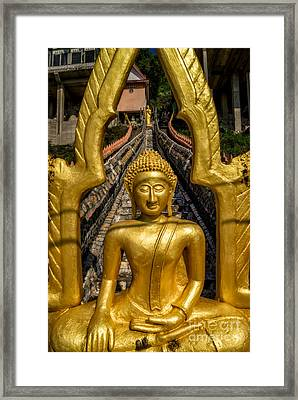 Golden Buddhas Framed Print by Adrian Evans