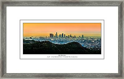 Golden California Sunrise Poster Print Framed Print by Az Jackson