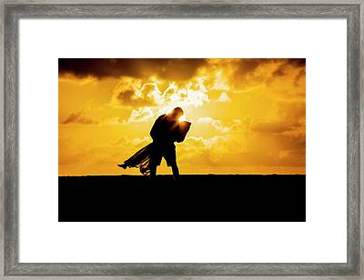 Golden Caress Framed Print