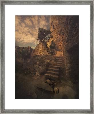 Golden Castle Framed Print by Jaroslaw Blaminsky