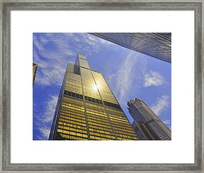 Golden Chicago Framed Print