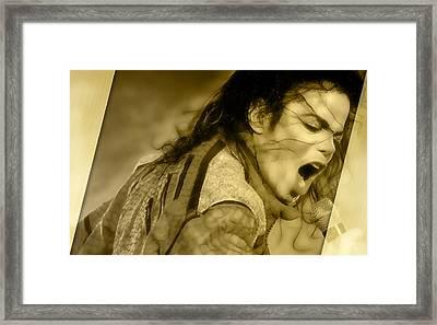 Golden Child Michael Jackson Framed Print