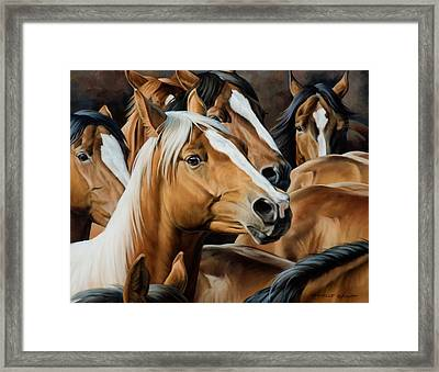 Golden Child Framed Print by JQ Licensing