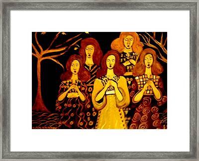 Golden Chords Framed Print