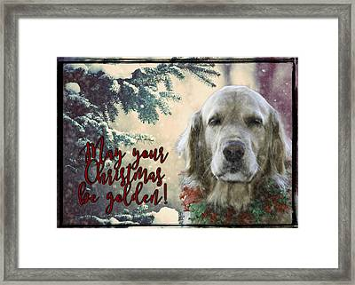 Golden Christmas Framed Print by Nancy Forehand Photography