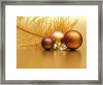 Golden Christmas Framed Print by Wim Lanclus