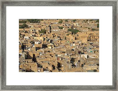 Framed Print featuring the photograph Golden City Jaisalmer by Yew Kwang