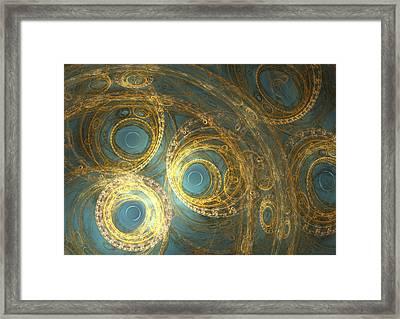 Golden Clock Machine Framed Print