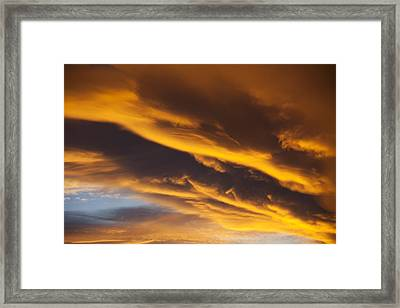 Golden Clouds Framed Print by Garry Gay