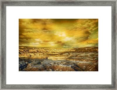 Golden Colors Of Desert Framed Print