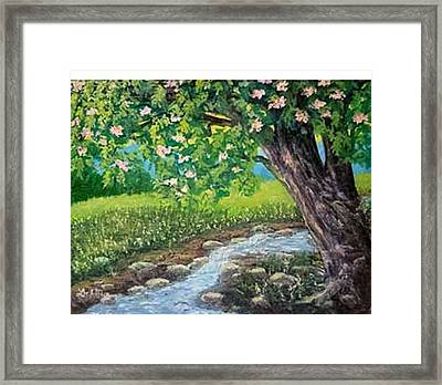 Golden Countryside Framed Print