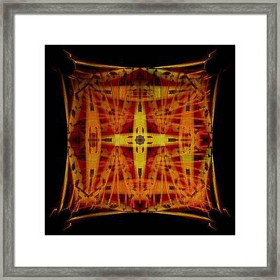 Golden Cross Framed Print