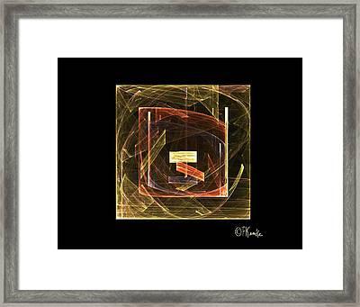 Golden Cube Framed Print