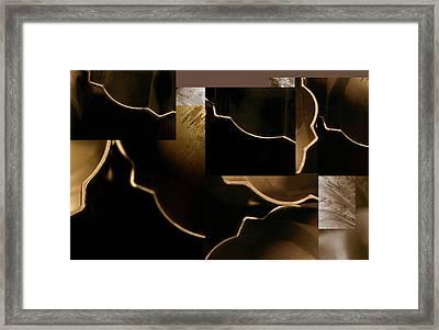 Golden Curves - Framed Print