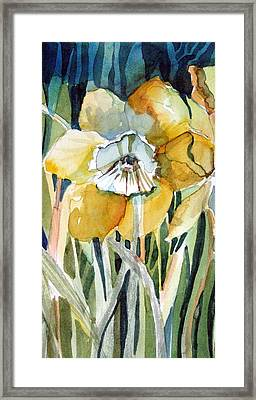 Golden Daffodil Framed Print by Mindy Newman