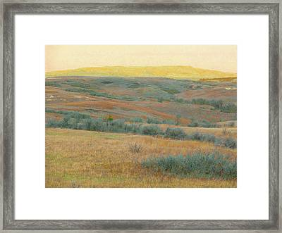 Golden Dakota Horizon Dream Framed Print