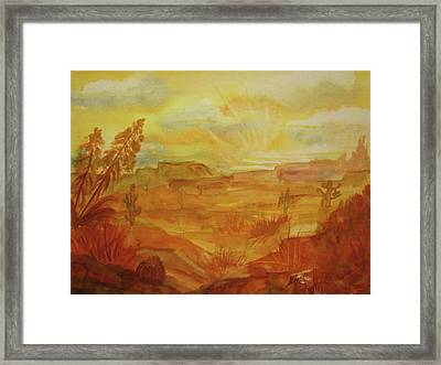Golden Dawn Framed Print by Ellen Levinson