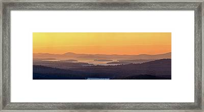 Golden Dawn Over Squam And Winnipesaukee Framed Print