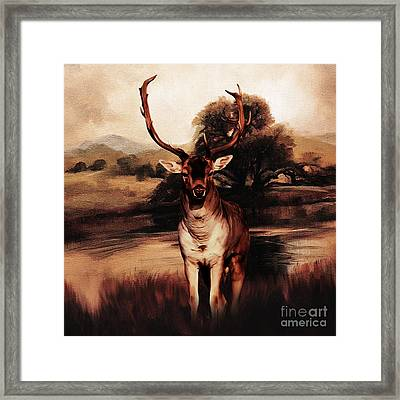 Golden Deer 21 Framed Print