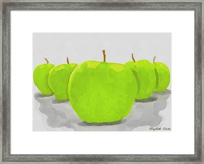 Framed Print featuring the painting Golden Delicious by Elizabeth Coats