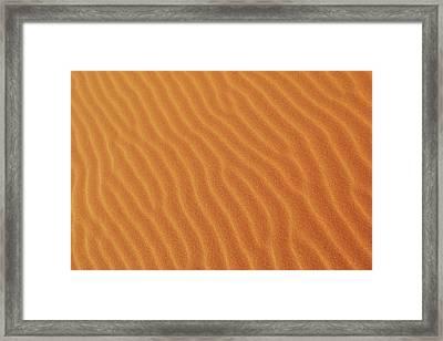 Golden Desert Sands Framed Print