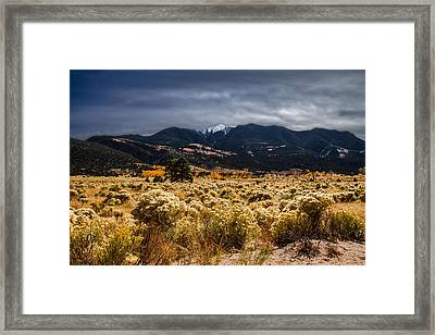 Golden Desert Framed Print by Sean Ramsey