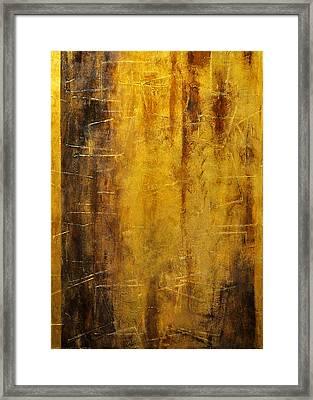 Golden Discovery Framed Print by Nicky Dou