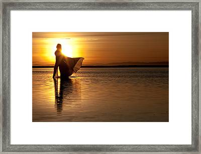Framed Print featuring the photograph Golden Diva by Dario Infini