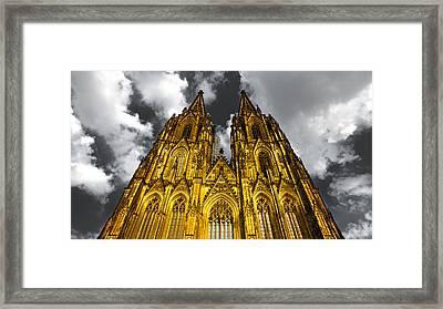 Golden Dome Of Cologne Framed Print by Thomas Splietker