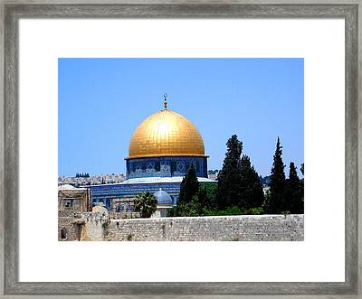 Golden Dome Framed Print by Roberto Alamino