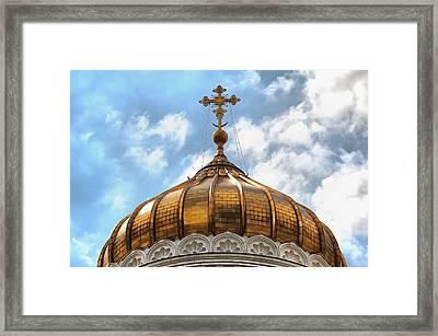 Golden Dome Framed Print by Sergey Lukashin