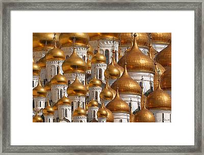 Golden Domes Framed Print by Joe Bonita