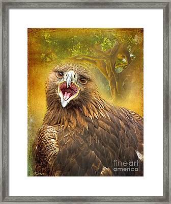 Golden Eagle Call Framed Print