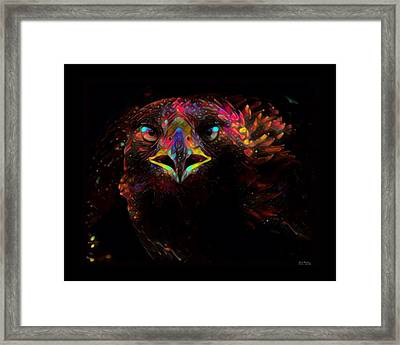 Golden Eagle Color Splash Framed Print