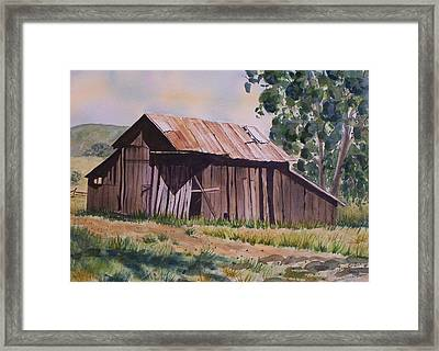 Golden Eagle Ranch Barn Framed Print