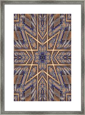 Golden Easter Cross Framed Print by Ricky Kendall