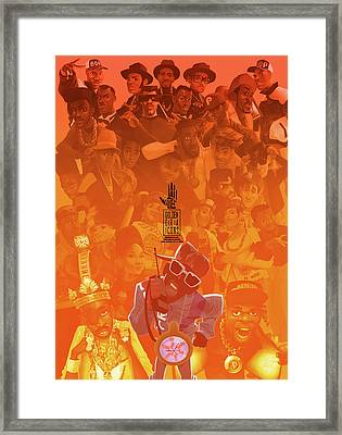 Framed Print featuring the digital art Golden Era Icons Collage 1 by Nelson dedos Garcia