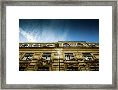 Golden Facade Framed Print