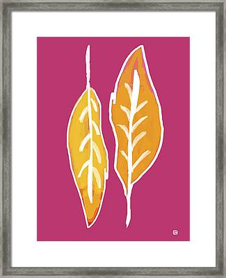 Framed Print featuring the painting Golden Feathers by Lisa Weedn