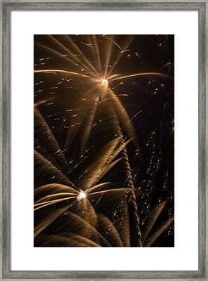 Golden Fireworks Framed Print by Garry Gay