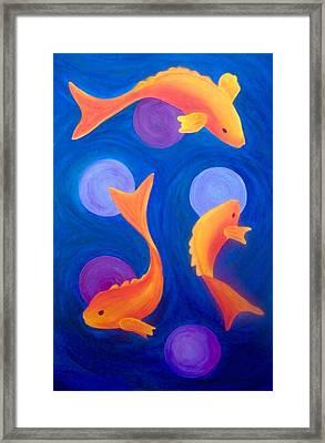 Golden Fish Framed Print