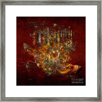 Framed Print featuring the digital art Golden Fish In The Lake by Alexa Szlavics