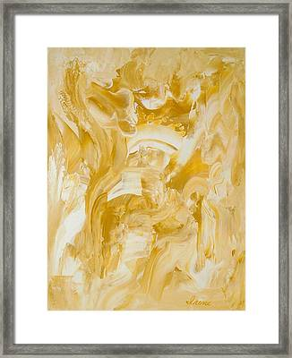 Framed Print featuring the painting Golden Flow by Irene Hurdle