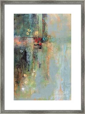 Framed Print featuring the painting Golden Flowers by Frances Marino