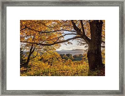 Vermont Framed In Gold Framed Print